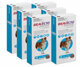 Bravecto Flea and Tick Chew for Dogs 44-88 lbs (20-40 kg) - Blue 6 Chews