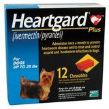 Heartgard Plus Chewables for Dogs up to 25 lbs (up to 11 kg) - Blue 12 Chews