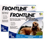 Frontline Plus for Dogs 23-44 lbs (10.1-20 kg) - Blue 12 Doses (12/2021 Expiry)