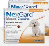 Nexgard Chews for Dogs 4-10 lbs (2-4 kg) - Orange 12 Chews