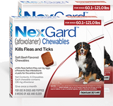 Nexgard Chews for Dogs 60.1-121 lbs (25.1-50 kg) - Red 12 Chews