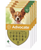 Advocate for Dogs under 9 lbs (under 4 kg) - Green 12 Doses Front Packaging
