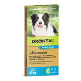 Drontal Allwormer Tablets for Dogs up to 22 lbs (up to 10 kg) -  6 Tablets