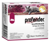 Profender Allwormer for Cats 11.1-17.5 lbs (5-8 kg) - Red 4 Doses