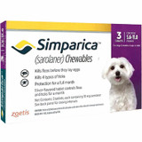 Simparica Chews for Dogs 5.5-11 lbs (2.6-5 kg) - Purple 3 Chews + 1 Bonus Chew (4 Total)
