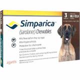 Simparica Chews for Dogs 88-132 lbs (40.1-60 kg) - Red 3 Chews + 1 Bonus Chew (4 Total)