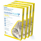 Revolution PLUS for Small Cats and Kittens 2.8-5.5 lbs (1.25-2.5 kg) - Gold 12 Doses (01/2022 Expiry)