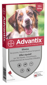 Advantix for Dogs 20-55 lbs (10-1-25 kg) - Red 4 Doses