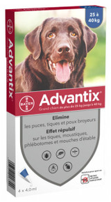 Advantix for Dogs over 55 lbs (over 25 kg) - Blue 4 Doses