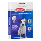 Nuheart Monthly Heartworm Soluble Tablets for Dogs up to 24 lbs (up to 11 kg) - Blue 6 Tablets
