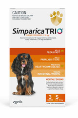 Simparica TRIO Chews for Dogs 11-22 lbs (5.1-10 kg) - Orange 3 Chews