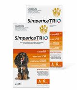 Simparica TRIO Chews for Dogs 11-22 lbs (5.1-10 kg) - Orange 12 Chews