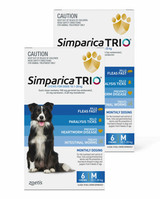 Simparica TRIO Chews for Dogs 22-44 lbs (10.1-20 kg) - Blue 12 Chews