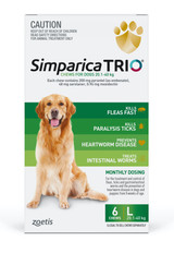 Simparica TRIO Chews for Dogs 44-88 lbs (20.1-40 kg) - Green 6 Chews