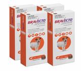 Bravecto Flea and Tick Chew for Dogs 9.9-22 lbs (4.5-10 kg) - Orange 4 Chews