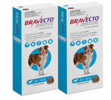 Bravecto Flea and Tick Chew for Dogs 44-88 lbs (20-40 kg) - Blue 2 Chews