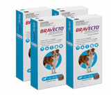 Bravecto Flea and Tick Chew for Dogs 44-88 lbs (20-40 kg) - Blue 4 Chews