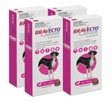 Bravecto Flea and Tick Chew for Dogs 88-123 lbs (40-56 kg) - Pink 4 Chews