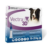 Vectra 3D for Dogs & Puppies 21-55 lbs (10-25 kg) -  3 Doses