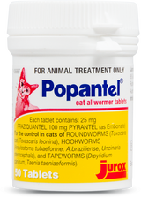 Popantel Allwormer for Cats - 50 Tablets