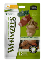 Whimzees Alligator Dog Dental Treats - Medium 12pk