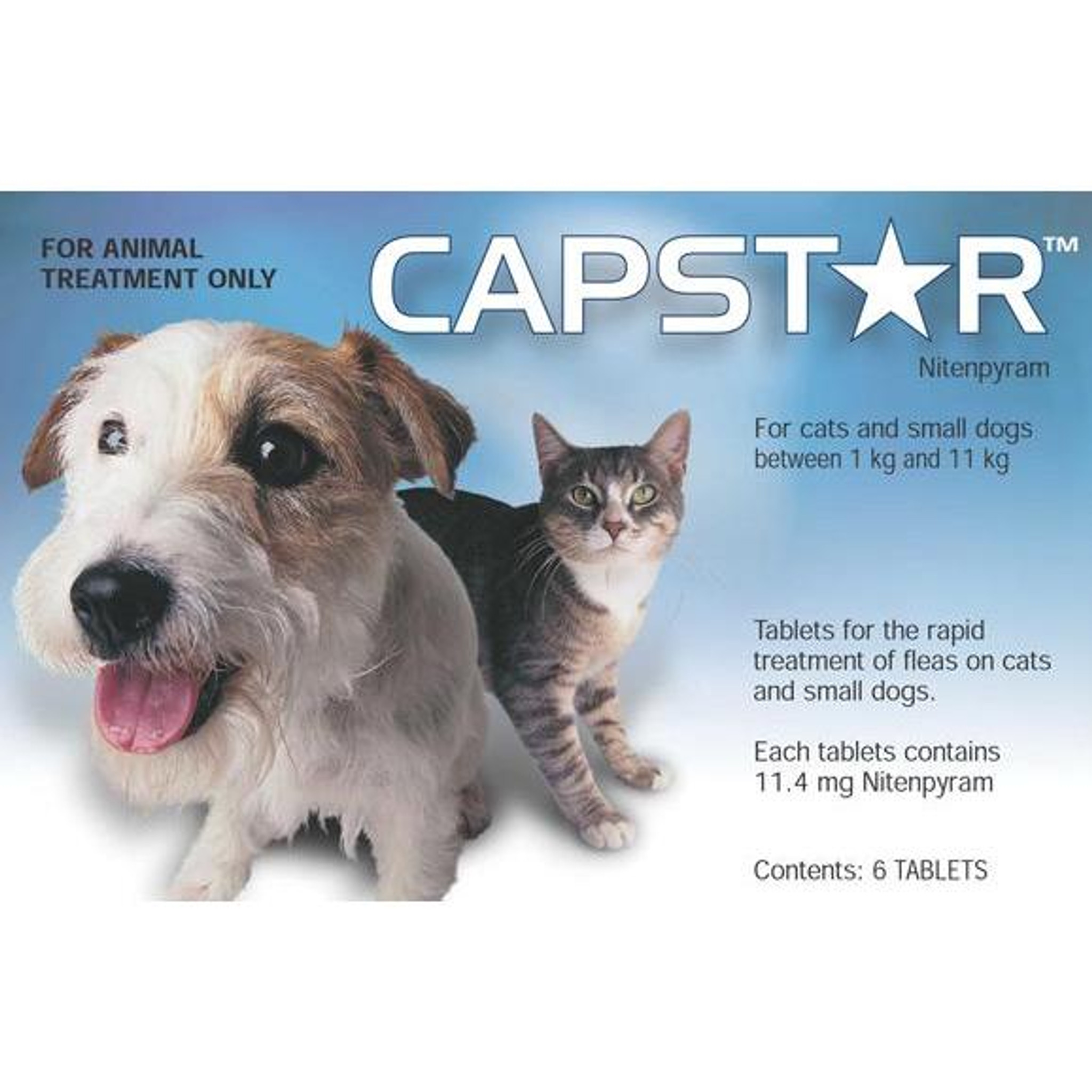 Capstar Flea Treatment Tablets For Small Dogs Cats Up To 25 Lbs