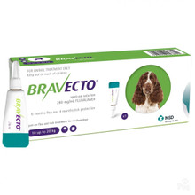 Bravecto Topical Solution for Dogs 22-44 lbs (10-20 kg) - 1 Tube