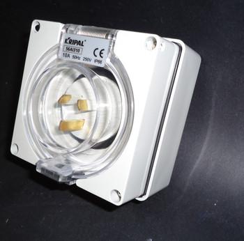 15 Amp 3 Pin inlet 240V IP66