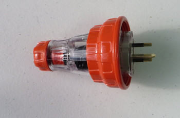 3 Pin Single Phase Plug IP66 Flat Pin