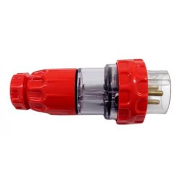 3 Pin Single Phase 32 Amp Straight Plug IP66
