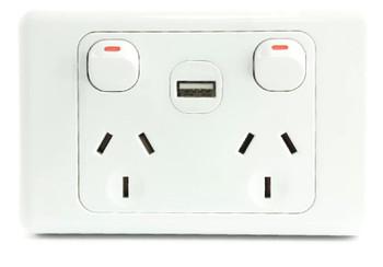 Double Power Point 10 amp USB 2A