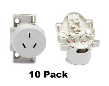 10 x Quick Connect Surface Socket Plug Bases For Downlights 553QC