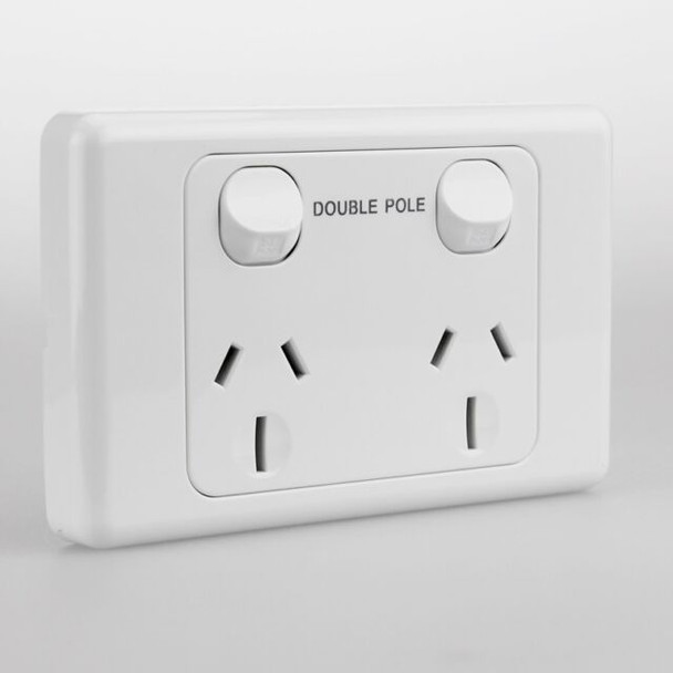 Double Pole 15 amp  double outlet GPO