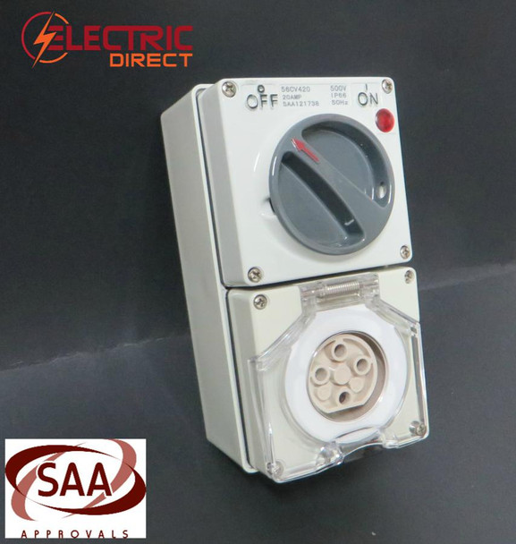 3 Phase 4 Pin Switched Socket Outlet
