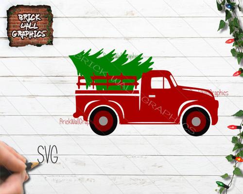 Christmas Truck Svg.Vintage Truck Christmas Svg File Christmas Svg Files