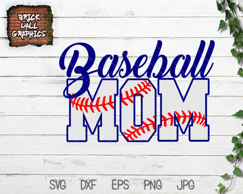 Baseball Mom SVG file with laces