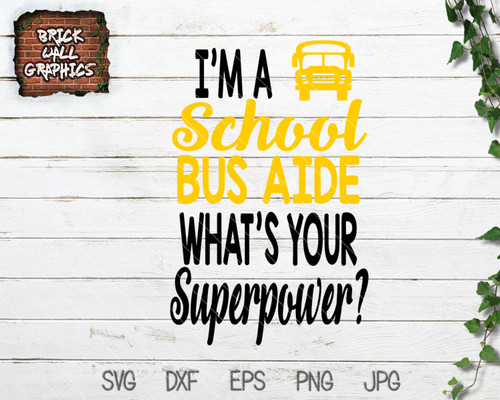 school bus aide svg