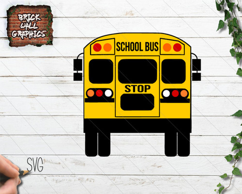 School Bus SVG File for Cricut and Silhouette