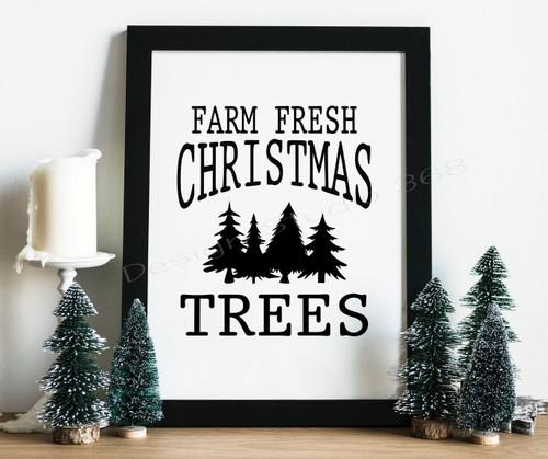 Farm Fresh Christmas Trees digital Prints, Christmas Decor