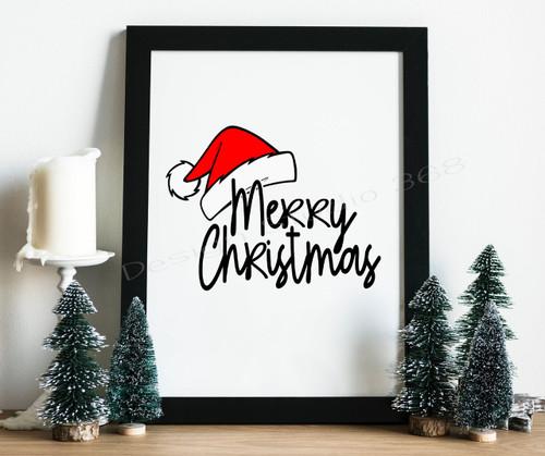 Merry Christmas Digital Print