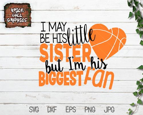 basketball sister svg