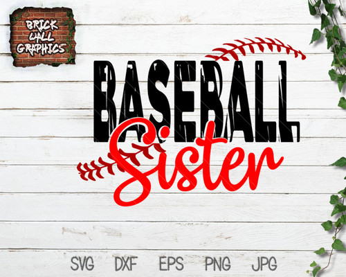 Baseball Sister SVG File