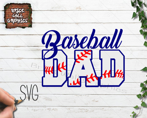Baseball Dad SVG File for Cricut and Silhouette
