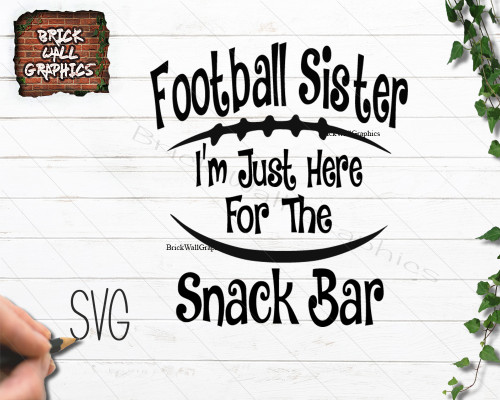 Football Sister Concession Stand SVG File