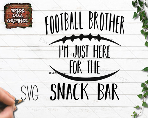 Football brother svg file