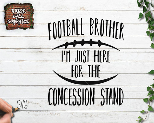 Football Brother Concession Stand svg file