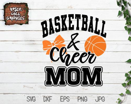 basketball and cheer mom svg