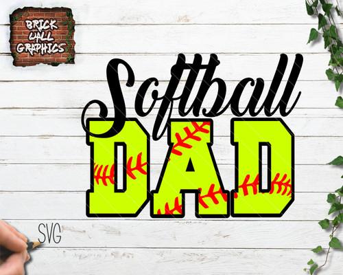 Softball Dad SVG File