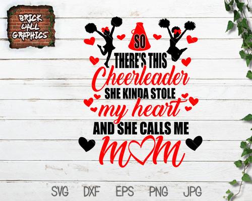 Cheerleader Stole My Heart SVG