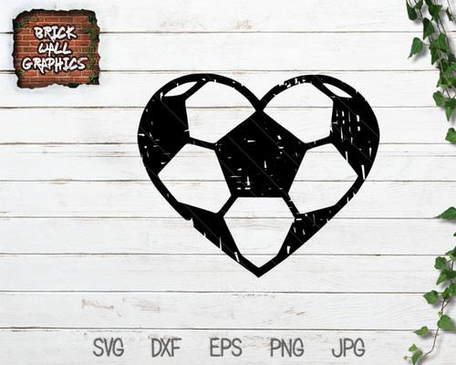 Soccer Ball Heart SVG File
